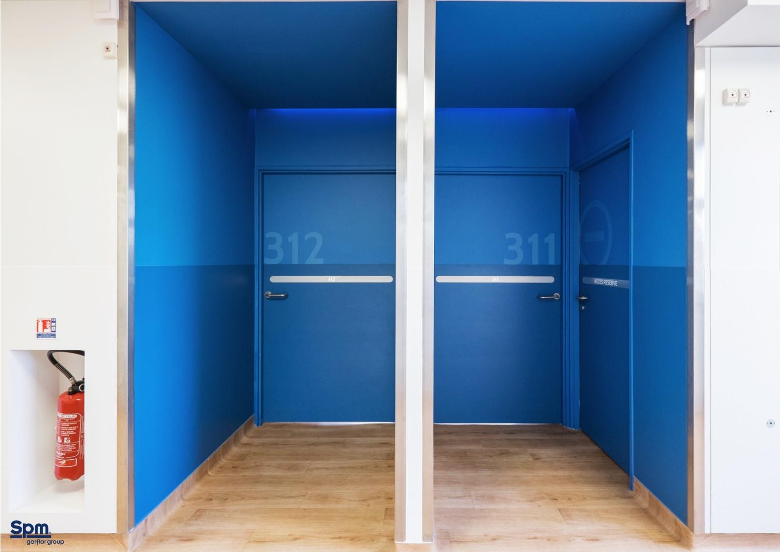 SPM panneau DECOCHOC protection des portes - bleu