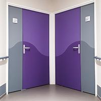 1/2 porte décorative - Bicolore